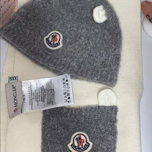 MONCLER Baby Hat and Scarf Set